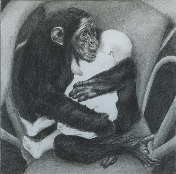 yin-yang, graphite on paper, 20X20 cm, 2015