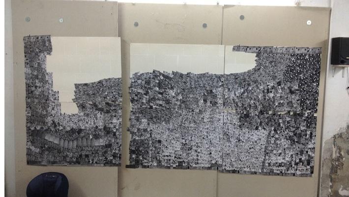 Eshkol Av Kiryat Ata_Work in progress_140x133cm
