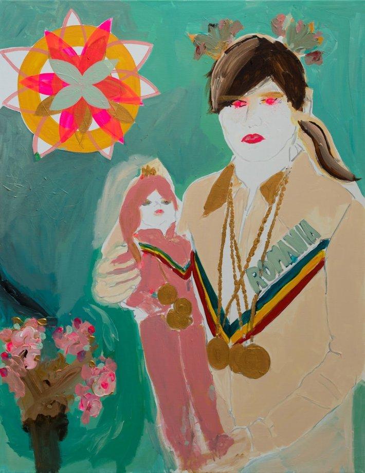 1554_Alona Harpaz, Attitude ,.2018 ,acrylic and spray on canvas, 90 x 70-ORIG_SIZE
