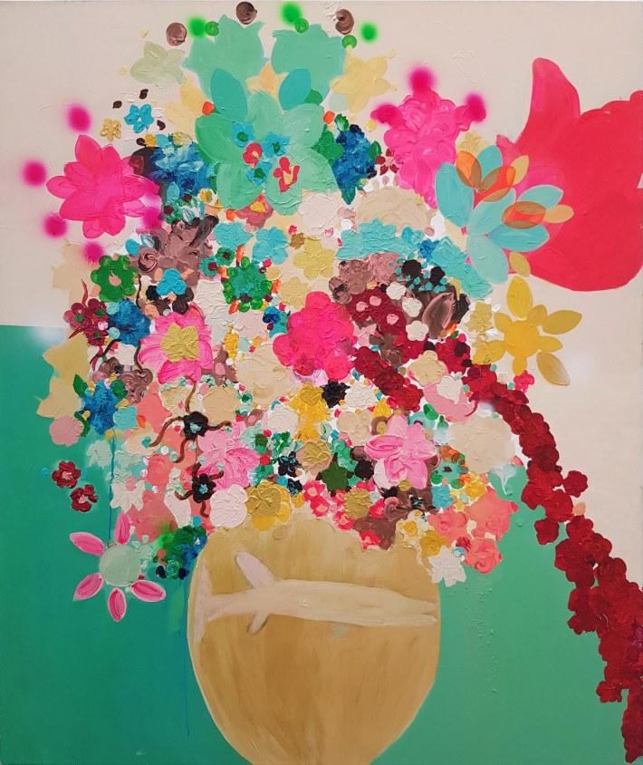 Royal, 2014, acrylic and spary on canvas 120x140 cm - Copy